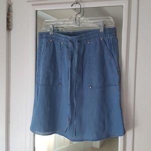 NWT Jones of New York Chambray Skirt